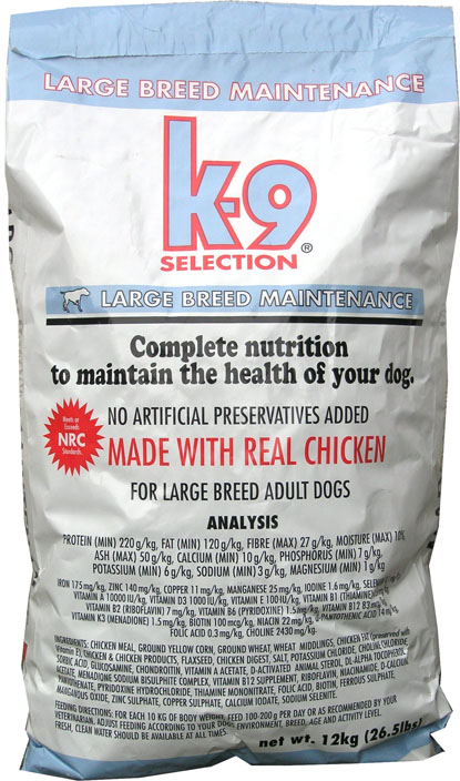 K-9 Selection Maintenance Large Breed 20 kg